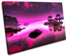 Japan PURPLE PINK Sunset Seascape - 13-0758(01C)-SG32-LO